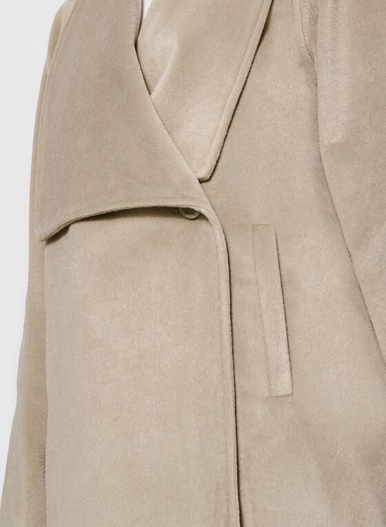 Novelti - Wool-Like Draped Lapel Coat, Off White, hi-res