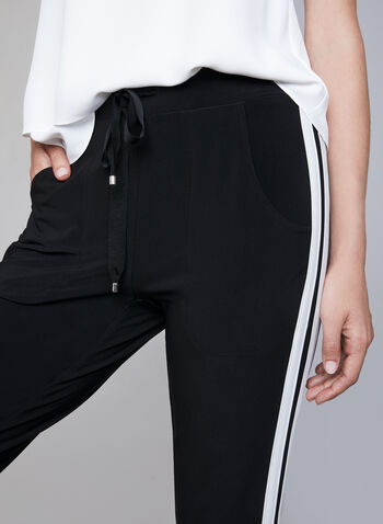 Athletic Pull On Pants, Black, hi-res
