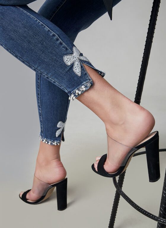 Frank Lyman - Jeans à détails perles, Bleu, hi-res