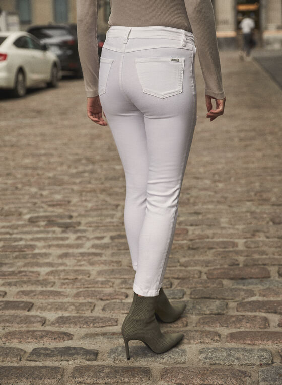 Joseph Ribkoff - Sequin Detail Jeans, White