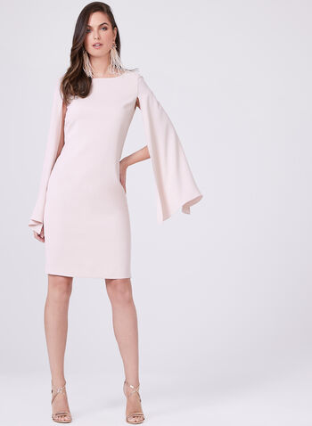 Frank Lyman - Split Cape Sleeve Sheath Dress, Pink, hi-res