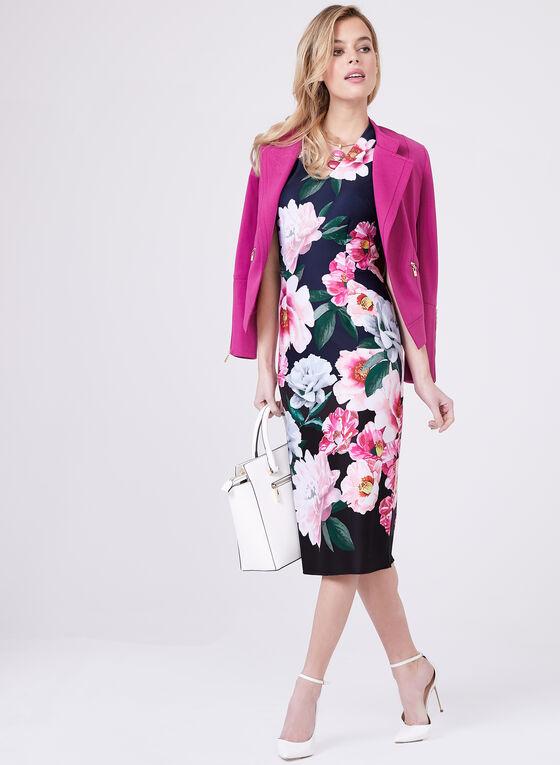 Ignite Evenings – Floral Print Sheath Dress, Blue, hi-res