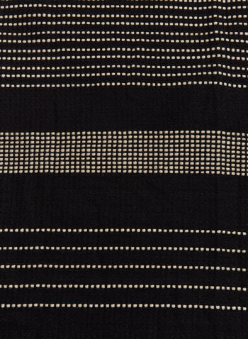 Contrast Stitch Scarf , Black, hi-res