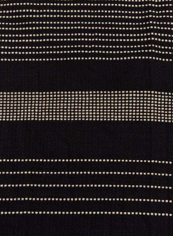 Contrast Stitch Scarf , Black, hi-res