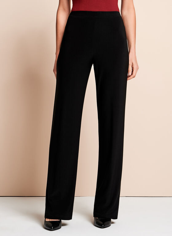 Frank Lyman Wide Leg Pants, Black, hi-res