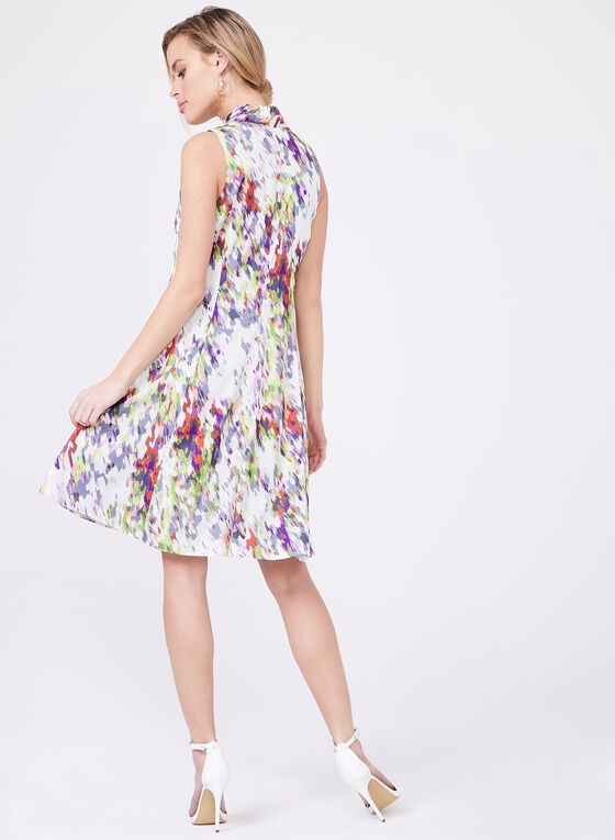 Cenia New York – Sleeveless Abstract Print Dress, Multi, hi-res
