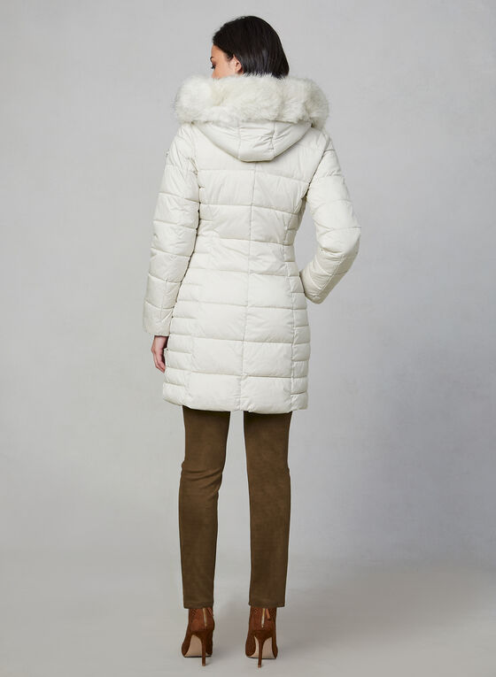 Bernardo - Quilted Faux Fur Coat, Off White