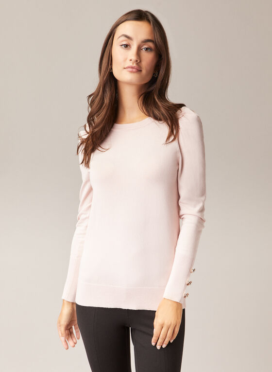 Mutton Sleeve Sweater, Pink