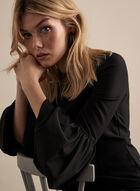Alton Gray - Ruffle Sleeve Dress , Black