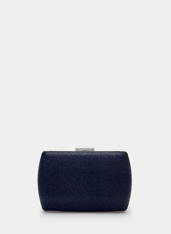 Glitter Clutch, Blue, hi-res