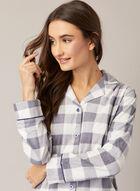 Ensemble pyjama à motif carreauté, Gris