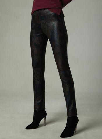 Insight - Pantalon pull-on effet peau de serpent, Noir, hi-res