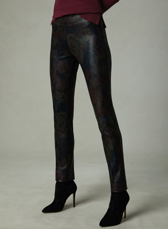 Insight - Snake Print Slim Leg Pants, Black, hi-res