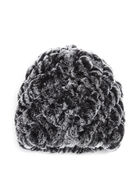 Rabbit Fur Hat, Black, hi-res