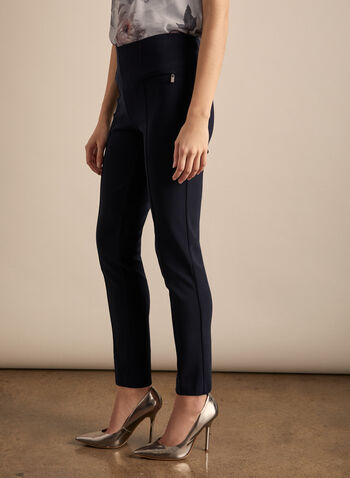 Joseph Ribkoff – Silky Tapered Pull On Pants, Blue,