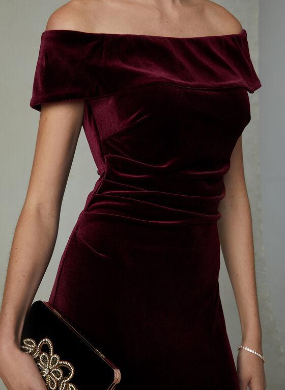 BA Nites - Robe longue en velours, Violet, hi-res