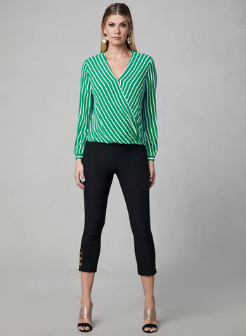 Chiffon Wrap Blouse, Green, hi-res