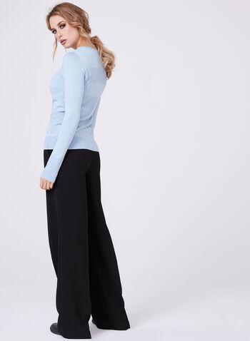 Stripe Ottoman Knit Sweater, Blue, hi-res