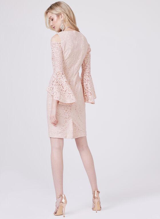 BA Nites - Robe à motif baroque et épaules ajourées, Rose, hi-res