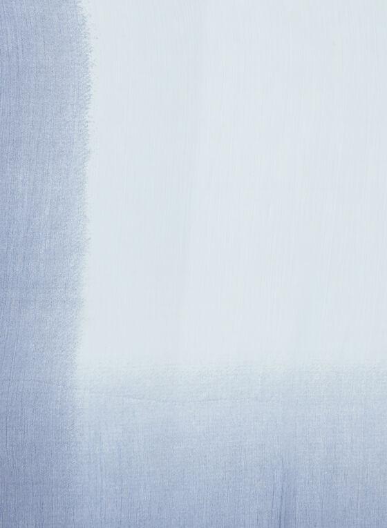 Oblong Ombré Scarf, Blue