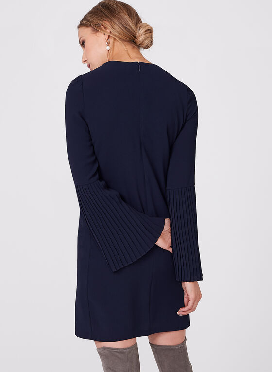 Maggy London - Crepe Bell Sleeve Dress, Blue, hi-res