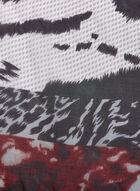 Foulard oblong léger à imprimé animalier, Rouge, hi-res