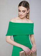 Vince Camuto - Off-the-Shoulder Dress, Green, hi-res