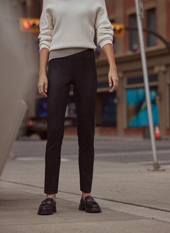 Pantalon Madison à motif serpent, Noir,  pantalon, étroit, madison, serpent, pull-on, automne hiver 2020