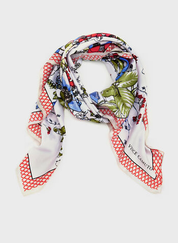 Vince Camuto - Square Floral Scarf, Red, hi-res