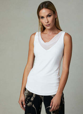 Joseph Ribkoff - Drape Neck Top, Off White, hi-res
