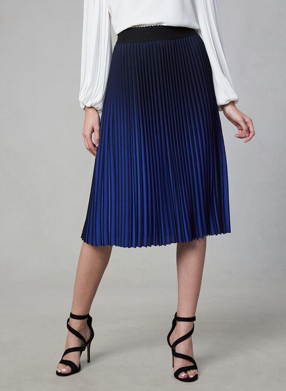 Pleated Ombré Skirt, Black, hi-res