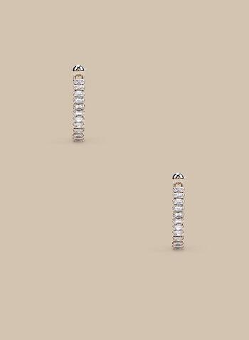 Crystal Open Hoop Earrings , Gold,  earrings, hoop earrings, crystals, crystal earrings, spring 2020, summer 2020