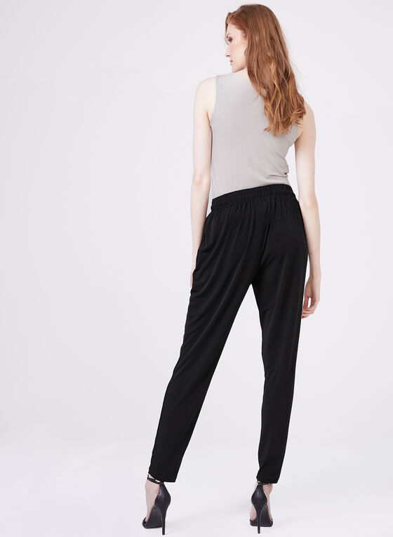 Ariella - Slim Leg Drawstring Pants, Black, hi-res