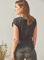 Vince Camuto - Short Sleeve Cinched Blouse, Black