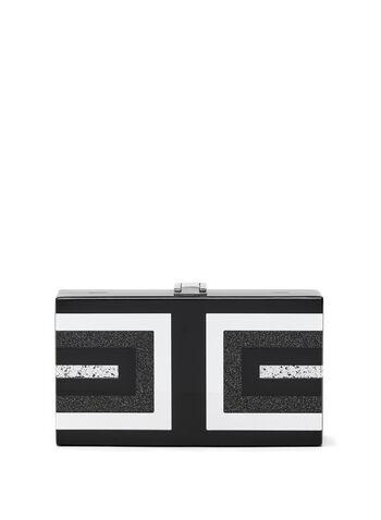 Geometric Box Clutch, Black, hi-res