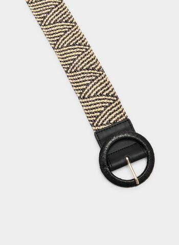 Woven Elastic Belt, Black, hi-res