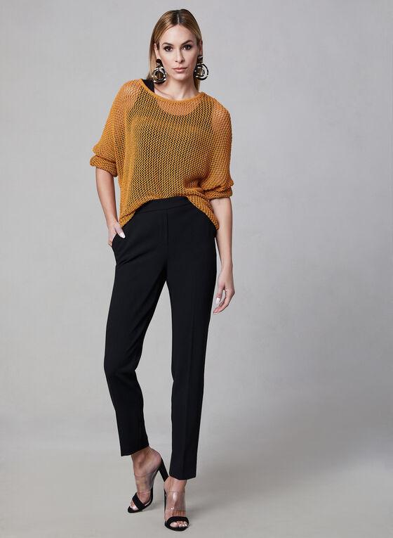 Pull en tricot à manches dolman, Orange, hi-res
