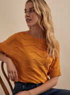 Knit Dolman Sleeve Sweater, Yellow