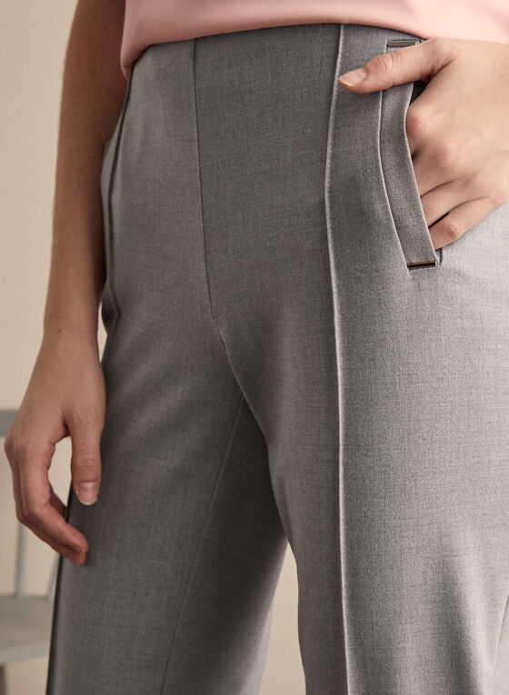 Amber High Rise Pants, Grey
