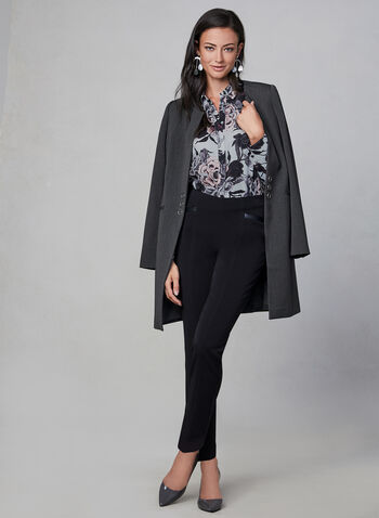 Floral Print Blouse, Purple, hi-res,  long sleeves, chiffon, fall 2019, winter 2019, button down,