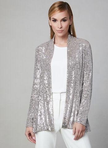 Frank Lyman - Sequin Jacket, Silver, hi-res