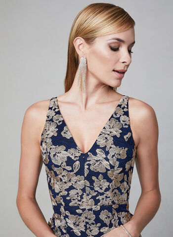 BA Nites - Floral Lace Midi Dress, Blue, hi-res,  sleeveless, spring 2019