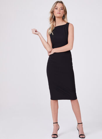 Maggy London – Square Neck Sheath Dress, Black, hi-res