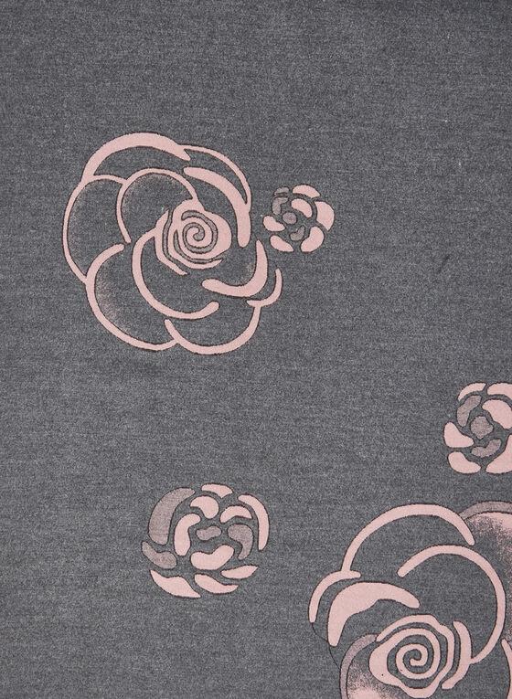 Écharpe fleurie réversible, Rose