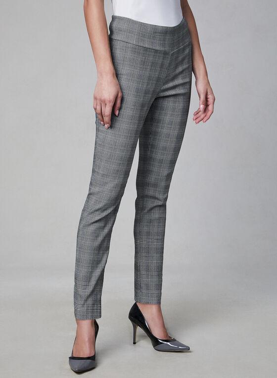 Meg & Margot - Pantalon à carreaux, Noir