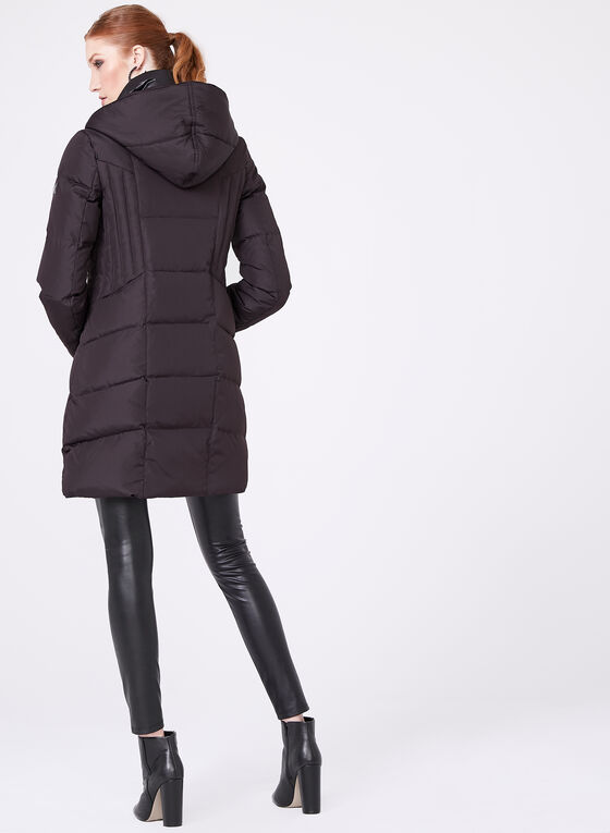 Novelti - Hooded Down Coat, Purple, hi-res