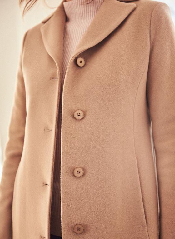 Mallia - Manteau en mélange de laine et cachemire , Brun
