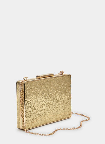 Pochette dorée rectangulaire, Or, hi-res