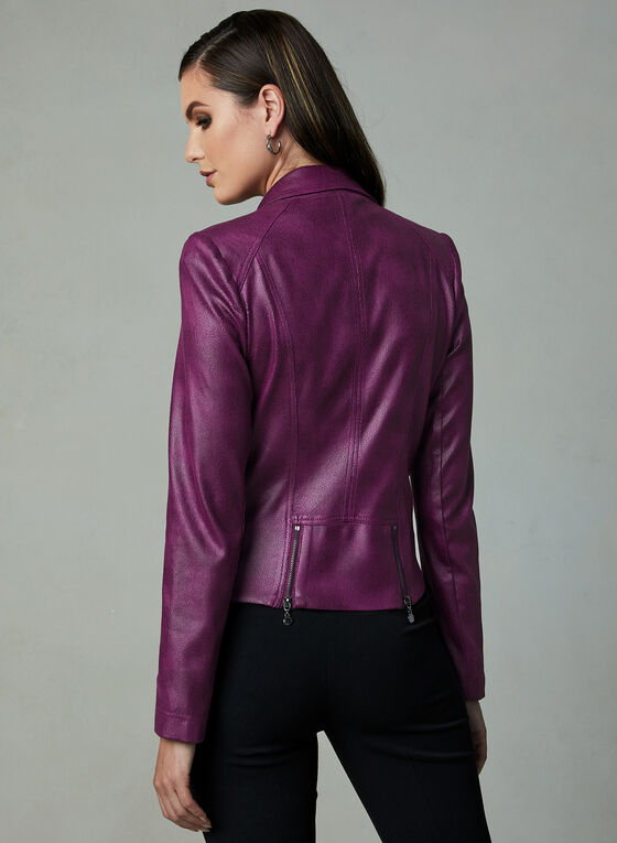Vex - Faux Leather Jacket, Pink, hi-res