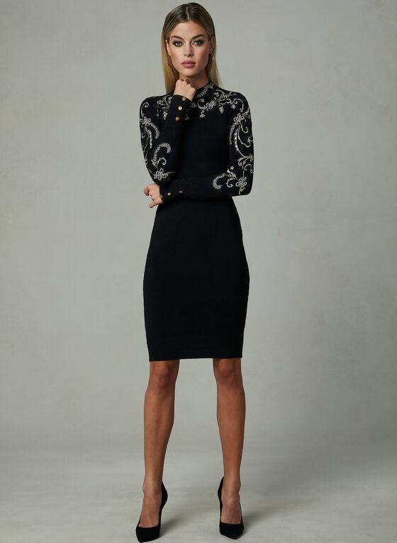 Frank Lyman - Embroidered Dress, Black, hi-res